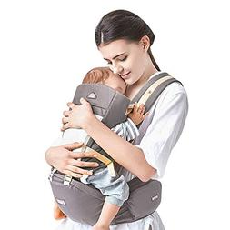 Kidsidol Baby Carrier 4-in-1 Ergonomic Baby Hipseat Front Fa
