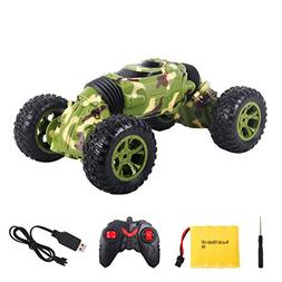 2019 Cars Toys, One Key Transformation Stunt RC Car Double-s