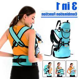 3 in 1 Ergonomic Baby Carrier Infant Kids Hipseat Backpack F