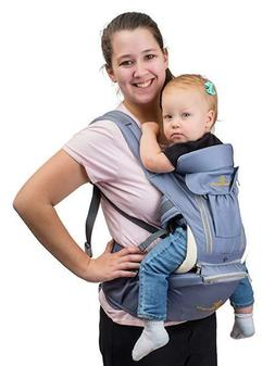 360° Baby Carrier with Hip Seat – 8 Comfortable Positions