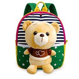 MATMO 3D Cute Cartoon Little Plush Baby Backpack Baby Toy Ba