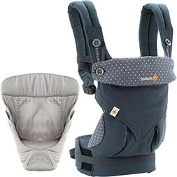 Ergobaby 4 Position 360 Carrier, Dusty Blue with Easy Snug I
