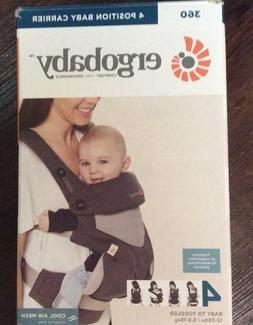 ERGOBABY 4 POSITION BABY CARRIER BABY TO TODDLER CARBON/GRAY