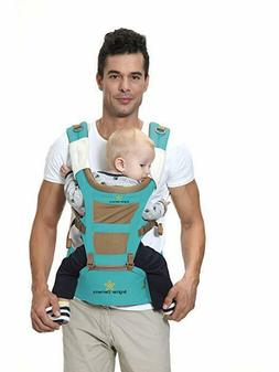 Brighter Elements 5-in-1 Baby And Hip Seat Carrier, Blue/Bro