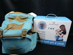 Brighter Elements 5in1 Baby And Hip Seat Carrier Blue Brown