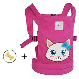 HappyVk- Baby Doll Carrier for kids- with cute Kitten embroi