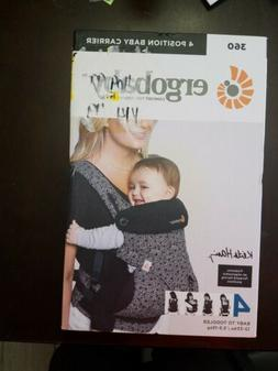 Authentic Ergo Baby Four Position 360 Baby Carrier, Grey/Bla