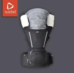 Bebear aX Foldable Aluminum Hip Seat Carrier - Brilliant Bla