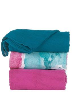 Tula Baby Blanket Set, 3 Pack of 47x47 Inches, 100% Viscose