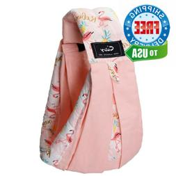 Baby Carrier by Cuby, Natural Cotton Sling Holder Pink Flami