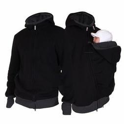 Baby Carrier Coat Jacket Kangaroo Dad Men Sweatshirt Hoodies