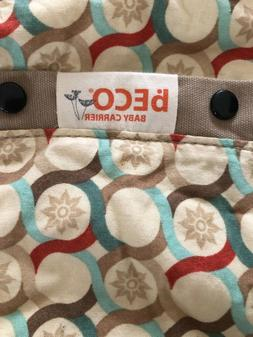 beco baby carrier, hardly used, infant head cover included,