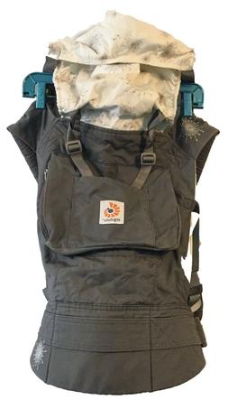 Ergobaby baby carrier, new without tags/washed gray with flo