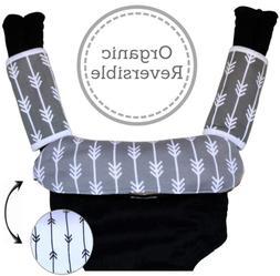 Baby Carrier Reversible Teething Drool Pads: Set of 3 Organi