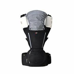 Baby Carrier with Hip Seat 6 in 1 Ergonomic Baby Carrier Bac
