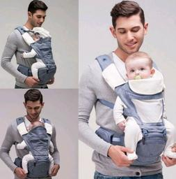 6 in 1 Baby Carrier with Hip Seat Ergonomic Baby Carrier by