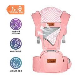 Bable Baby Carrier with Hip Seat, 6-in-1 Ergonomic Baby Carr