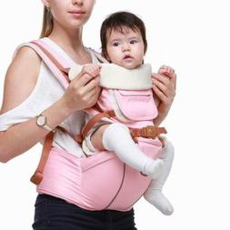 Baby Carrier with Hip Seat Adjustable Strap Wrap Wind Preven