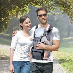 baby carrier with hip seat and baby