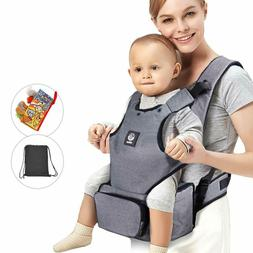 Baby Carrier with Hip seat and Baby Diaper Bag 2-in-1 by Uni