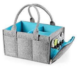 Premium Baby Diaper Caddy Organizer | Portable Nursery Stora