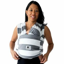 Baby K'tan Blue Gray White Stripe Carrier Wrap Small Extra M