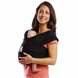 Baby K'tan ORIGINAL Cotton Wrap-style Baby Carrier, Black,