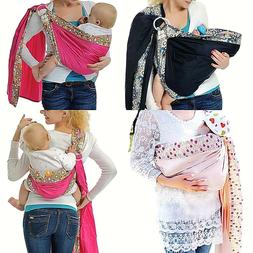Baby Ring Sling Carrier Infant Toddler Newborn Adjustable Nu