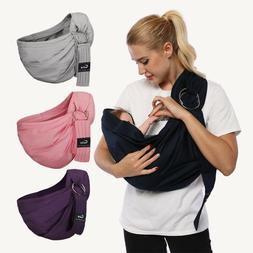 Baby Wrap Sling Breathable Comfy Breastfeed Cover Cotton Bab