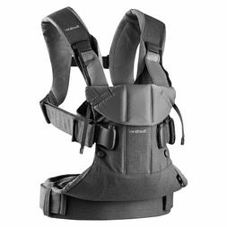 BABYBJÖRN New Baby Carrier One, Denim Grey/Dark Grey, Cotto