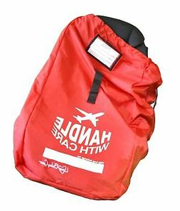 Love Baby Gear Ballistic Nylon Car Seat Travel Bag - Red