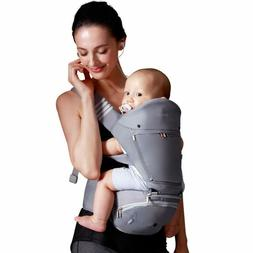 Bebamour Baby Carrier with Hip Seat 6 in 1 Ergonomic Baby Ca