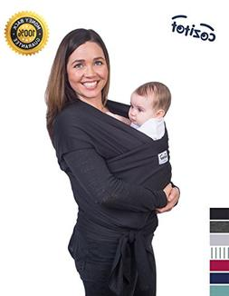 Black Baby Sling Carrier Wrap by Cozitot | Soft & Stretchy B