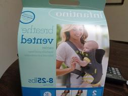 Infantino Breathe Vented Baby Carrier 8-25lbs New in Box