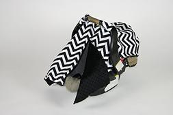 BayB Brand Car Seat Cover - Black Chevron