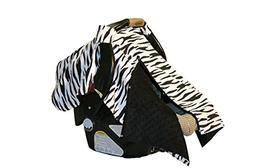 BayB Brand Car Seat Cover - Zebra and Black