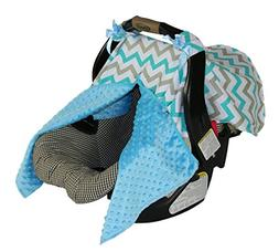 BayB Brand Car Seat Cover - Blue and Gray Chevron