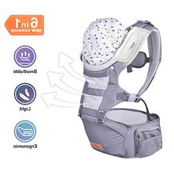 Bable Baby Carrier with Hip Seat, 6-in-1 Convertible Carrier