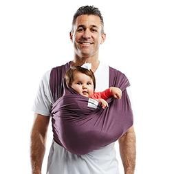 Cotton Baby Carrier - Size: Medium, Color: Eggplant