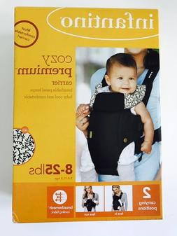 Infantino Cozy Premium Baby Carrier, 8 - 25 Pounds, Black, U