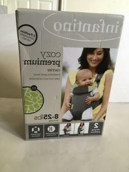Infantino Cozy Premium Baby Carrier 8-25lbs 2  position gree