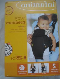 Infantino Cozy Premium Carrier Black Cream 8-25 lbs. Two Pos
