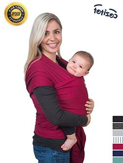 Dark Red Baby Sling Carrier Wrap by Cozitot | Soft & Stretch