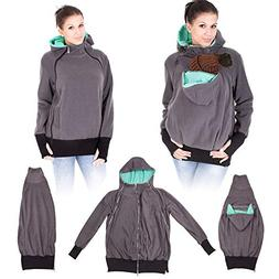 NeuFashion Exclusive Double Thick Real Baby Carrier Hoodie J