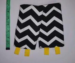 Drool Pads For Baby Carrier Chevron Black White Toy Loop Han