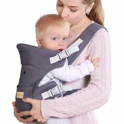 Ergonomic Baby Carrier, Soft & Breathable Baby Wrap Backpack