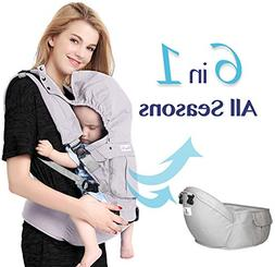 Bonne Vie Baby Ergonomic Carrier with Hip Seat for Toddler &