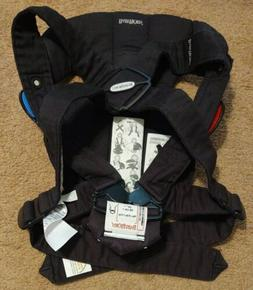 EUC BABYBJORN® Baby Carrier One Black Soft Cotton Mix 4-Way
