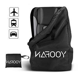 Car Seat Travel Bag, Gate Check Drawstring Backpack Bag with