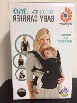 Genuine Ergobaby four position 360 baby carrier, Pure Black